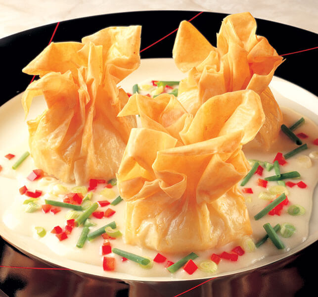 Ground Beef Phyllo Recipe: Cantonese Beef Phyllo Pouches In Ginger