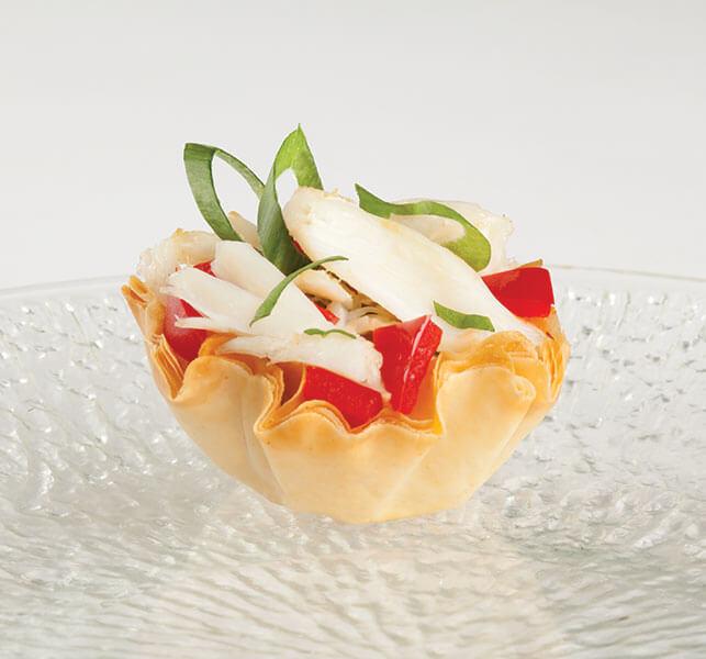 5 Spice Crab Phyllo Bites Athens Foods