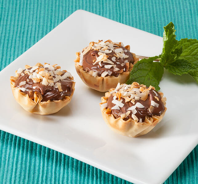 Nutella And Coconut Phyllo Tarts - Athens Foods