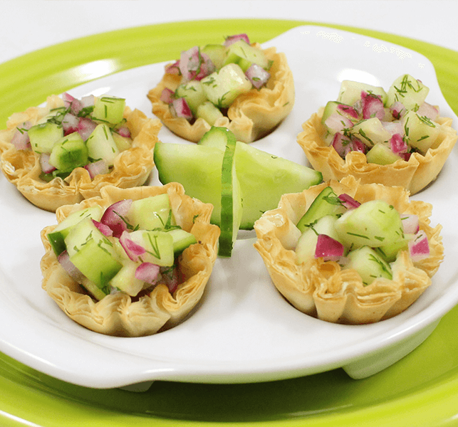 Athens Foods | Healthy Party Snacks | Balsamic Cucumber Mini