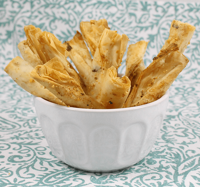 Simple Party Appetizers | Honey Pistachio Phyllo Bread Sticks