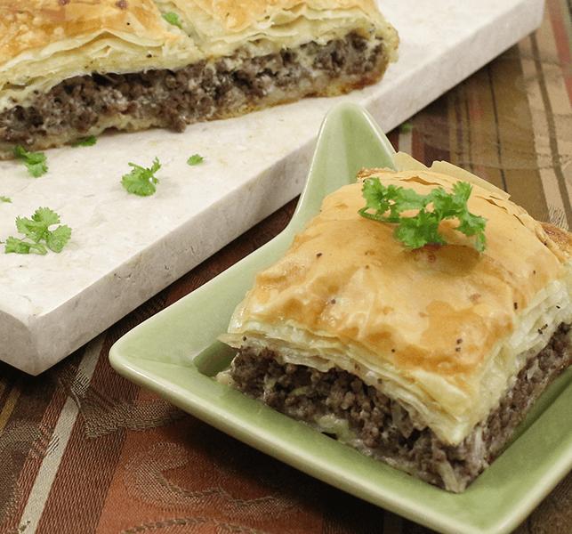 Ground Beef Phyllo Recipe: Egyptian Goulash (Phyllo Meat Pie