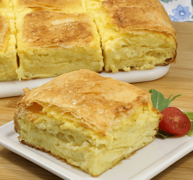 Phyllo Recipes | Gibanica (Phyllo Cheese Pie)