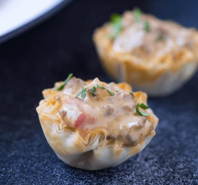 Ground Beef Phyllo Recipe: Chile Con Queso Bites