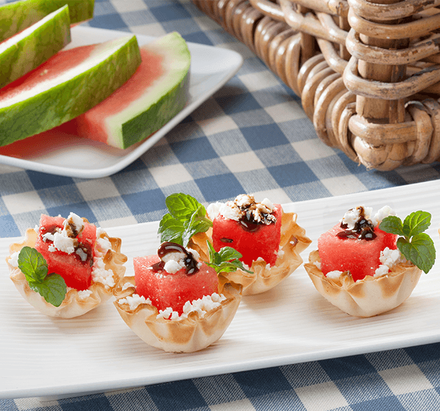 Watermelon Amp Feta Phyllo Cups Healthy Party Appetizers