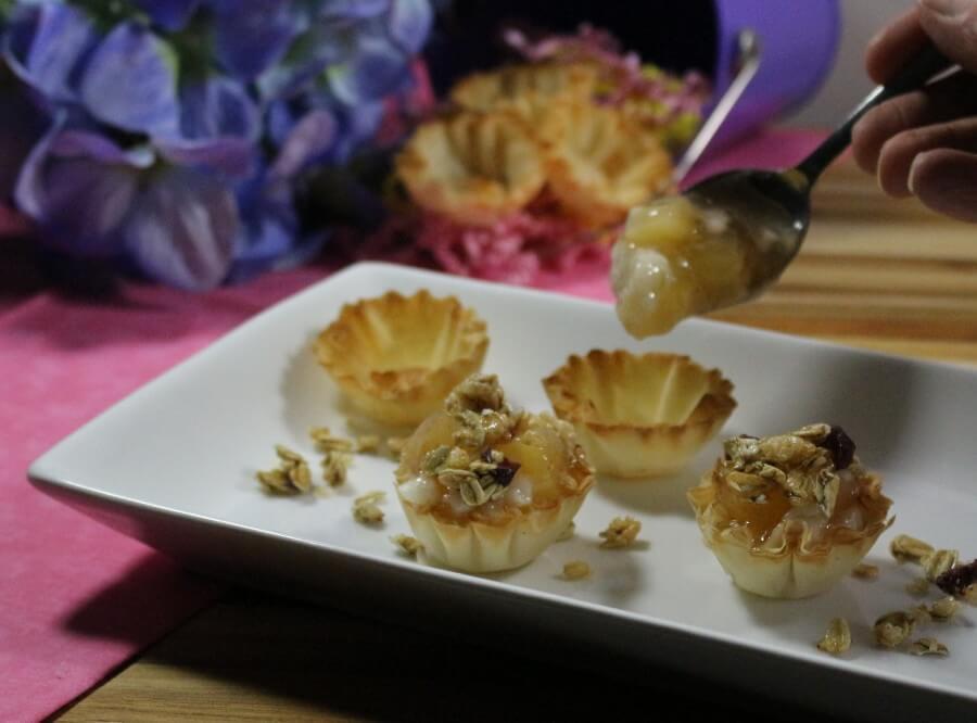 Athens Foods Mini Apple Parfait Phyllocups Bite Size