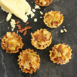 chocolate and graham cracker phyllo shells - apple bacon tarts