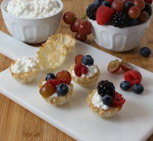 snack - lite bites phyllo shells