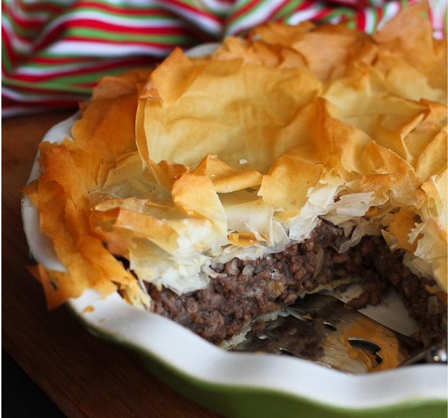 Ground Beef Phyllo Recipe: Spiced Meat Pie (Tourtière)