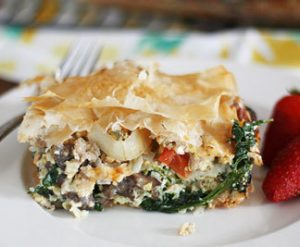 spinach & phyllo - Phyllo Egg Brunch Casserole