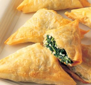 spinach & phyllo - spanakopita triangles