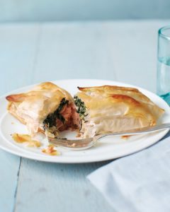 spinach & phyllo - Salmon-and-Spinach Rolls - Martha Stewart