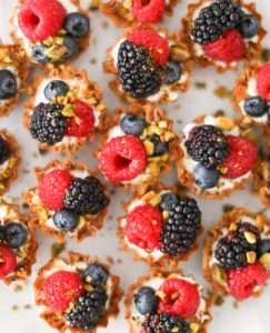 easy berry tarlets - upclose