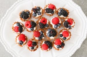 easy berry tarlets - toppings