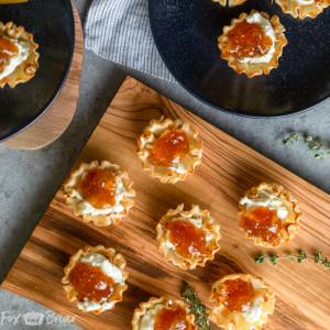fig goat cheese phyllo shells