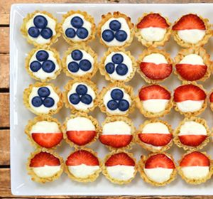 fourth of july - phyllo flag tart