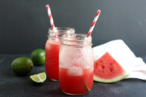 fourth of july - watermelon lime drink