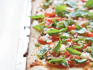 fourth of july - phyllo margherita pizza