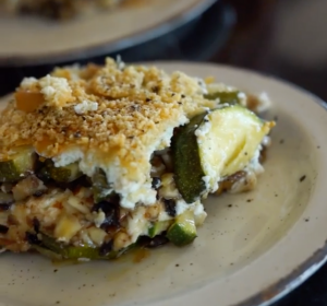 slice of zucchini baklava phyllo