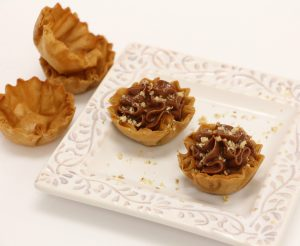nutella honey goat cheese tartlets - athens foods - phyllo kitchen blog - chocolate and graham cracker
