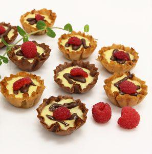 Ricotta Phyllo Tarts - phyllo kitchen blog - chocolate and graham cracker