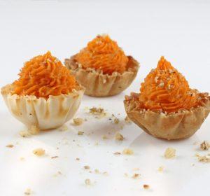 sweet potato tart - phyllo kitchen blog - chocolate and graham cracker