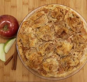apple ruffle phyllo pie