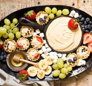 peanut butter dip fruit cups - essential recipe