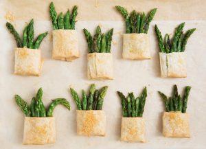 10 spring side dishes - asparagus baskets