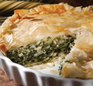 10 spring side dishes - baby greens and herbs pie