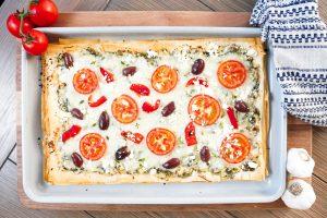 Greek Phyllo Flatbread Pizza