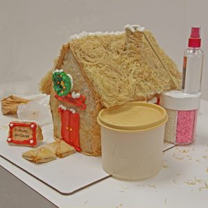phyllo gingerbread house