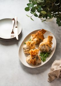 individual phyllo wrapped beef wellingtons
