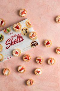 Strawberry Phyllo Cheesecake in Phyllo Shells