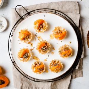 Summer Phyllo Shell Recipe - Apricot Granola Cups