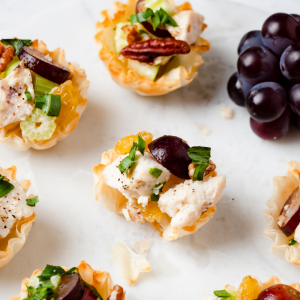 Summer Phyllo Shell Recipe - Dressed-Up Chicken Salad Cups