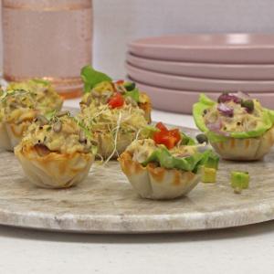 Garbanzo Salad Phyllo Cups