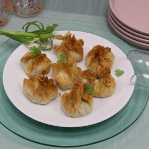 chicken mango phyllo purses - air fryer recipe