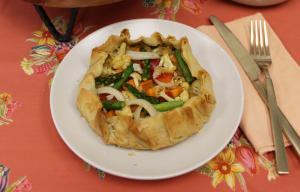 Vegan Friendly Recipe - Roasted Vegetable Galette